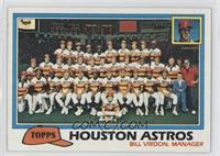 Houston Astros Team Checklist (Bill Virdon, Manager)