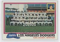 Los Angeles Dodgers Team Checklist (Tom Lasorda, Manager)