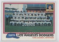 Los Angeles Dodgers Team Checklist (Tom Lasorda, Manager)
