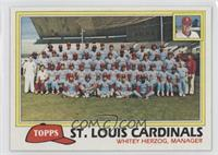 St. Louis Cardinals Team Checklist (Whitey Herzog, Manager)