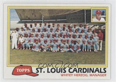 1981 Topps #684 - St. Louis Cardinals Team Checklist (Whitey Herzog, Manager)