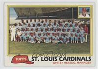 St. Louis Cardinals Team Checklist (Whitey Herzog, Manager)