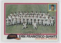 San Francisco Giants Team Checklist (Dave Bristol, Manager)