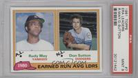 Rudy May, Don Sutton [PSA 9]