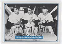 Mickey Mantle, Yogi Berra, Moose Skowron
