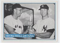 1957-Roy Sievers with Mickey
