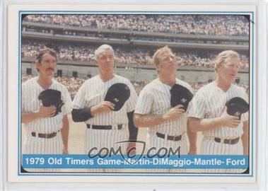 1982 ASA The Mickey Mantle Story #67 - Billy Martin, Joe DiMaggio, Mickey Mantle, Whitey Ford