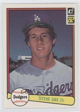 1982 Donruss #624 - Steve Sax