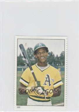 1982 Fleer Stamps #123 - Rickey Henderson