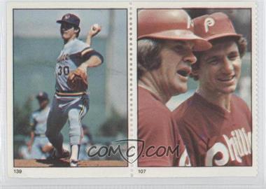 1982 Fleer Stamps #139-107 - Moose Haas, Pete Rose, Larry Bowa