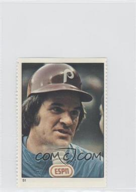 1982 Fleer Stamps #51 - Pete Rose