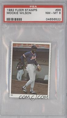 1982 Fleer Stamps #86 - Mookie Wilson [PSA 8]