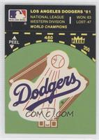 Los Angeles Dodgers logo (on baseball diamond)