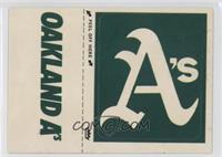 Oakland Athletics logo (hat logo)