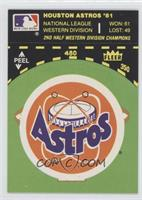 Houston Astros Logo/Stat Line (on baseball diamond)