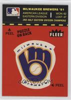 Milwaukee Brewers Logo/Stat Line (Puzzle on Back)