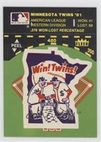 Minnesota Twins Logo/Stat Line (on baseball diamond)