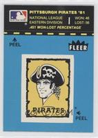 Pittsburgh Pirates Logo/Stat Line (Blue/Puzzle on Back)