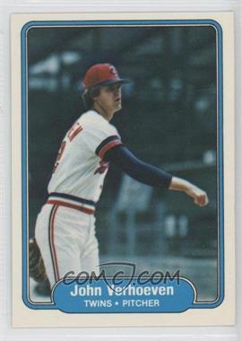 1982 Fleer #547 - John Verhoeven