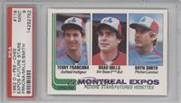 Terry Francona, Brad Mills, Bryn Smith [PSA 9]