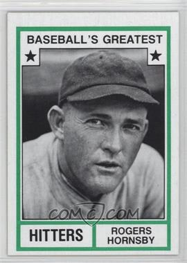 1982 TCMA Baseball's Greatest - Hitters - Tan Back #1982-15 - Rogers Hornsby