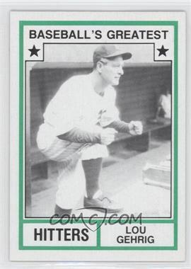 1982 TCMA Baseball's Greatest - Hitters - Tan Back #1982-23 - Lou Gehrig