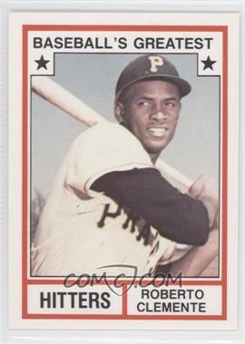 1982 TCMA Baseball's Greatest - Hitters - White Back #1982-4 - Roberto Clemente
