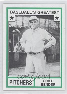 1982 TCMA Baseball's Greatest - Pitchers - Tan Back #1982-45 - Chief Bender