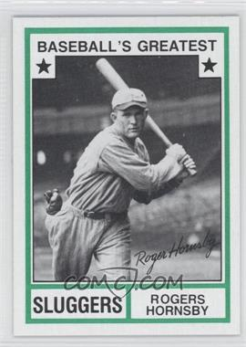 1982 TCMA Baseball's Greatest - Sluggers - Tan Back #1982-21 - Rogers Hornsby