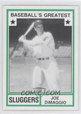 1982 TCMA Baseball's Greatest - Sluggers - Tan Back #1982-44 - Joe DiMaggio