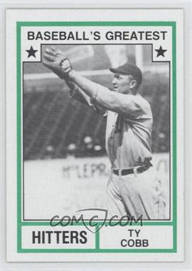 1982 TCMA Baseball's Greatest Hitters Tan Back #1982-14 - Ty Cobb
