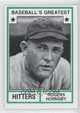 1982 TCMA Baseball's Greatest Hitters Tan Back #1982-15 - Rogers Hornsby