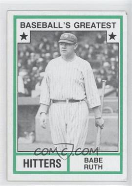 1982 TCMA Baseball's Greatest Hitters Tan Back #1982-19 - Babe Ruth