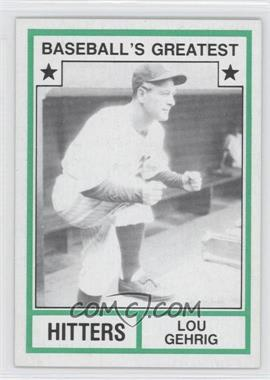 1982 TCMA Baseball's Greatest Hitters Tan Back #1982-23 - Lou Gehrig