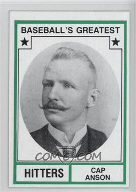 1982 TCMA Baseball's Greatest Hitters Tan Back #1982-27 - Cap Anson