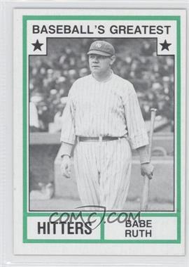 1982 TCMA Baseball's Greatest Hitters Tan Back #1982-N/A - Babe Ruth