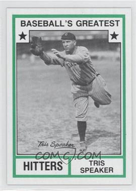 1982 TCMA Baseball's Greatest Hitters Tan Back #1982-N/A - Tris Speaker