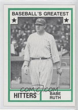 1982 TCMA Baseball's Greatest Hitters White Back #1982-19 - Babe Ruth