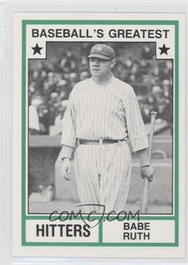 1982 TCMA Baseball's Greatest Hitters White Back #1982-19 - Babe Ruth