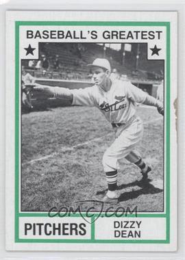 1982 TCMA Baseball's Greatest Pitchers Tan Back #1982-36 - Dizzy Dean