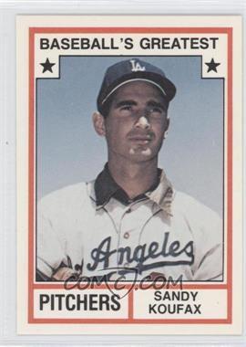 1982 TCMA Baseball's Greatest Pitchers White Back #1982-8 - Sandy Koufax