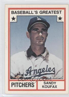 1982 TCMA Baseball's Greatest Pitchers White Back #1982-8 - Sandy Koufax