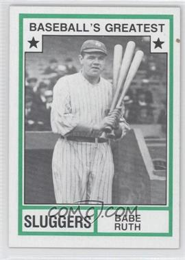 1982 TCMA Baseball's Greatest Sluggers Tan Back #1982-18 - Babe Ruth