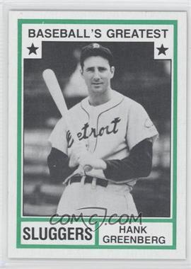 1982 TCMA Baseball's Greatest Sluggers Tan Back #1982-27 - Hank Greenberg