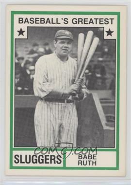 1982 TCMA Baseball's Greatest Sluggers White Back #1982-18 - Babe Ruth