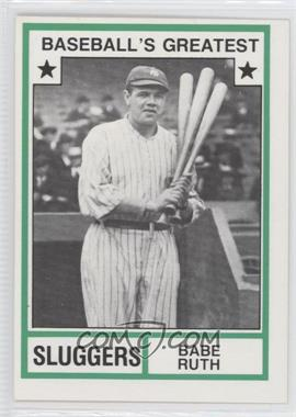 1982 TCMA Baseball's Greatest Sluggers White Back #1982-18 - Babe Ruth