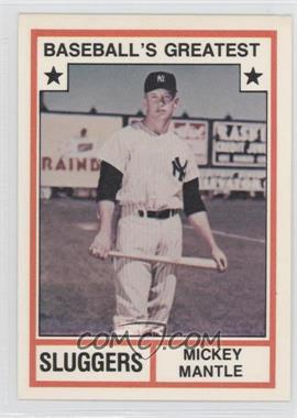 1982 TCMA Baseball's Greatest Sluggers White Back #1982-3 - Mickey Mantle