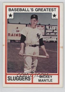 1982 TCMA Baseball's Greatest Sluggers White Back #1982-3 - Mickey Mantle