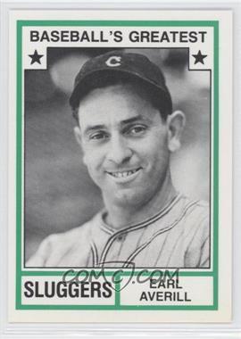 1982 TCMA Baseball's Greatest Sluggers White Back #1982-45 - Earl Averill