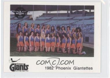 1982 The Dugout Phoenix Giants - [Base] #18 - Phoenix Giants Team